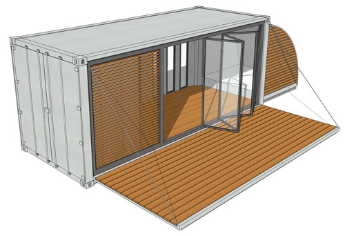 20ft - Containerhaus | Containerhome | Containerhouse - IMNU Varianten