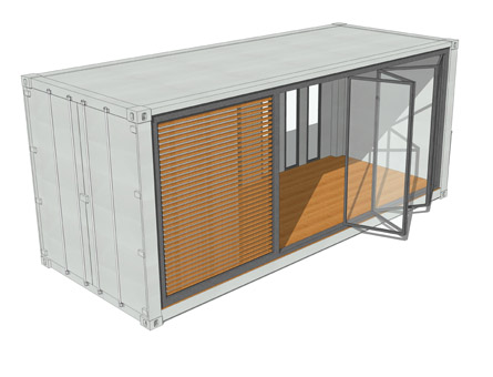 20ft containerhaus containerhome containerhouse - Container als gartenhaus ...