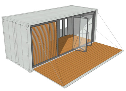 20ft containerhaus containerhome containerhouse. Black Bedroom Furniture Sets. Home Design Ideas
